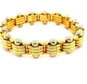 Bvlgari Yellow and White Gold Links Tennis Bracelet