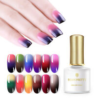 BORN PRETTY 6ml Thermal Nail Gel Polish Changing Color Nail Art Soak Off UV Gel