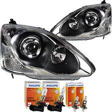 Scheinwerfer Set Honda Civic 10.03-12.05 H1/HB3 ohne Motor mit Blinker 1380540