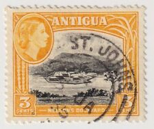 1953 Antigua - Nelson's Dockyard, Landscapes - 3 Cent Stamp