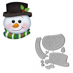 Christmas Snowman Metal Cutting Dies Scrapbooking Decor Embossing Card Craft DIY