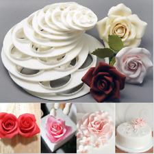 Fondant moule gâteau Sugarcraft rose fleur décor biscuit gomme pâte