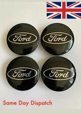 4x Ford Black Wheel Centre Caps stickers 56.5mm OEM 6M211003AABL Focus Fiesta Ka