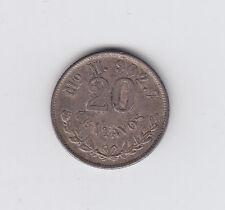 1898 Mexico 20 Centavos Silver Coin - NICE!!!