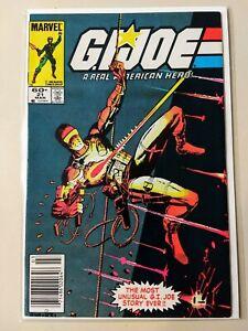 G.I. Joe #21 Marvel Comics 1st Storm Shadow Silent Issue Rare Newsstand Variant