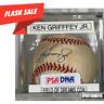Ken Griffey Jr. Autographed Baseball PSA/DNA COA!