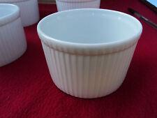 Set 2 x Pillivuyt Deep Souffle Dishes No.5 White Porcelain 30 cl Pleated