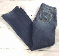 SILVER Sz 27 Lola Boot Cut Stretch Medium Wash Womens Jeans 33 Inseam