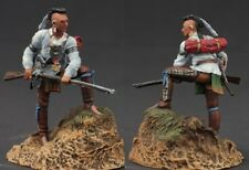 Tin toy soldiers  painted 54 mm Indian with a gun