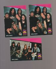 Lot of 3 Metal Church rock band trading cards  Pub. early 1990's