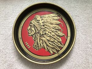 Iroquois Indian Head Beer Metal Tray Buffalo NY Vintage