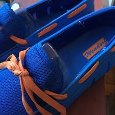 Mens Boat Water Shoes Size 11 Quick Dry Swim Slip on Blue Orange NEW CLemson