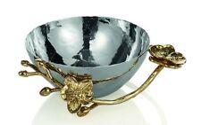 Bnib Beautiful Designer Michael Aram Golden Orchid Nut Bowl