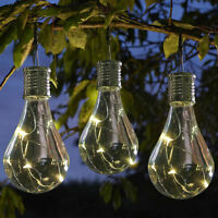 Waterproof Solar LED Light  Rotatable Outdoor Garden Camping Hanging Lamp Bulb