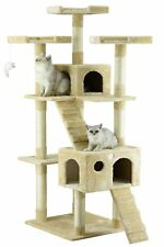 Cat Tree Condo For Indoor Cat Big Tower Multi Giant Castle And Large Extra Tall