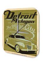 Garage Horloge murale  Detroit Michigan Automobile City Stations Décoration