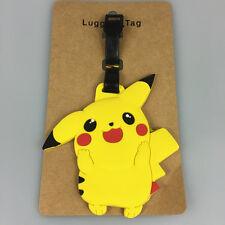 NEW Cute Pokemon Pikachu Luggage Tag Name Bag Card Holder Travel Suitcase Baggag