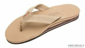 Rainbow Sandals Premier Leather FACTORY SEALED MENS Sierra Brown Double Layer