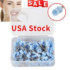 100pcs Dental Polishing Polish Cups Prophy Cup Latch Type Rubber Blue