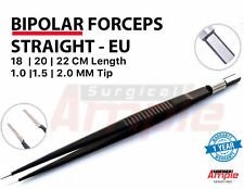 Straight Bipolar Forceps Non Stick Reusable With 3 Meter Cord European Forceps
