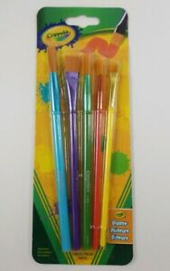 Crayola 5 Piece Brush Set For School Arts And Crafts Hobbies Free Shipping
