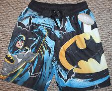 New! Boys Batman Swim Trunks/Boardies (Black/Blue; Elastic Waist) - Size 4