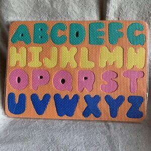 NEW Foam Alphabet Puzzle ABC Sensory Puzzle Baby Toddler Kids Educational Orange