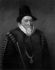 Retrato de Thomas Sackville, conde de Dorset-grabado de 19th Century