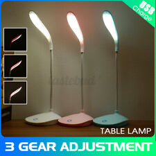 Flexible Dimmable 3 Mode LED Desk Light 5V USB Timing Touch Sensor Reading Lamps