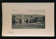 Wales Radnorshire RHAYADER General view pre1919 plate sunk PPC