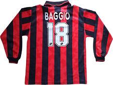 Maglia Baggio Milan 1995 1996 Lotto home Shirt Jersey M no worn issue