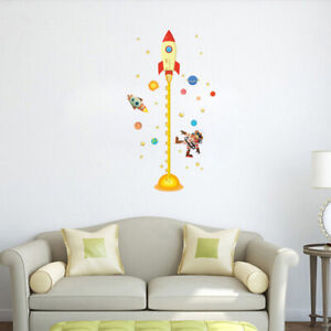 1PC Removable Funny Cartoon Outer Space Height Measure Sticker for Bedroom