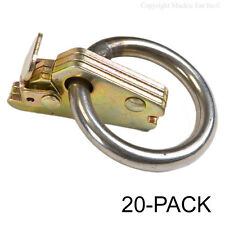 Capacity O-ring E Track Tiedown Attachment Fitting 5,000 lb Tie Downs 10-Pack