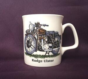 Bone China Motorbike Mug Rudge Ulster Hand Decorated in Wales Gift