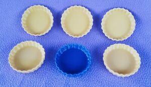 Revol La Porcelain (6) E 69 small flan/tart Dishes