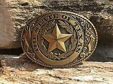 Western Rodeo TEXAS Cowboy Lone Star Belt Buckle (FREE SHIPPING)
