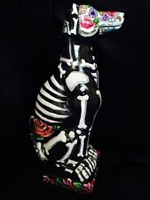 Greyhound Dog Whippet Minuture Italian Grey Day Of The Dead statue Memorial Art