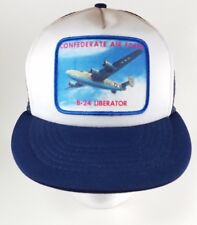 Vintage 80's Confederate Air Force B-24 Liberator Patch Snapback Trucker Hat