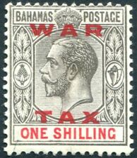 BAHAMAS-1919 1/- Grey-Black & Carmine War Tax Stamp Sg 104 MOUNTED MINT V22643