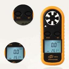 Electronic Digital Thermometer LCD Anemometer Handheld Wind Speed Gauge Meter J1