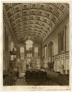 Antique Print-ARCHITECTURE-GERMAN CHAPEL-ST. JAMES'S PALACE-Wild-Havel-ca. 1810