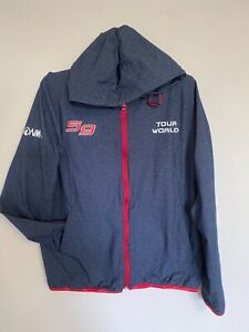 HONMA GOLF Japan Sports JACKET  Mens S or Women's M Navy hoodie super rare