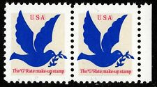 1994 US #2877b - 3c Make-Up Rate Double Red Impression Pr, Mint NH - SCV $350.00