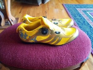 Gold mens cycling shoes size 11?