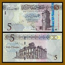 Libya 5 Dinars, 2015 P-New Unc