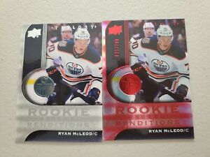 RYAN MCLEOD (2) LOT 2020-21 UD TRILOGY ROOKIE RENDITIONS RED 621/799 +BASE RR-23
