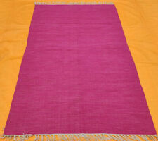 Rajasthani Block Print Traditional Cotton Area Kilim Rug Pink Rug Kilim Rug Pink