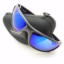 Wiley X ACNAS09 Nash Sunglasses Polarized Blue Mirror Lens Matte Black Frame