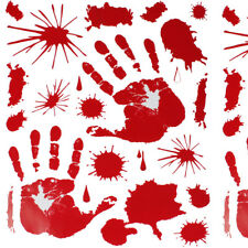 New Bloody HAND PRINT Stickers Halloween Decoration Zombie Dead Party Prop Scary