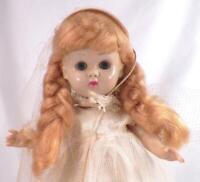 Vogue Ginny Bride Doll Hard Plastic Molded Lash Walker Bend Knee Vintage